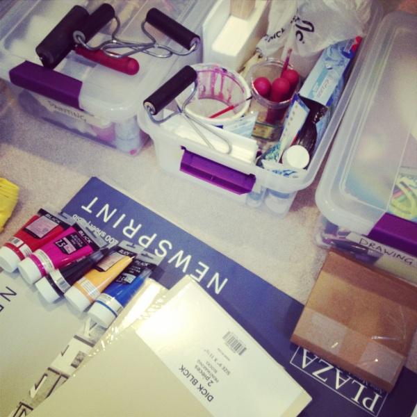 Art supplies inventory