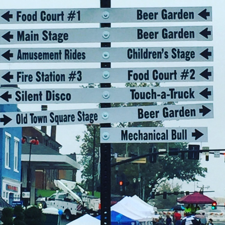 Weird sign. Just how many beer tents were there? And what is a silent disco?